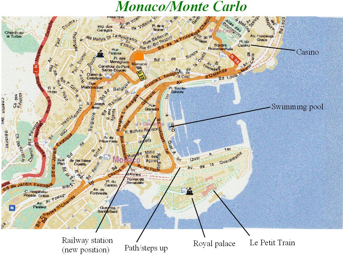 Map Monte Carlo Monaco Monaco/Monte Carlo map